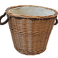 Slemcka Brown Log basket (W)440mm