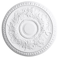 Artex Richmond Traditional Plaster Ceiling rose, (Dia)530mm