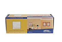 Artex Easifix Classic C-shaped Paper faced plaster Internal Coving corner (L)340mm (W)95mm, Pack of 4