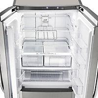 Hotpoint FFU4D X Silver Freestanding Fridge freezer