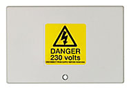 Drayton White 3A 12 way Junction box 97mm