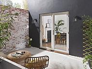 1 Lite Glazed White Hardwood External French Door set, (H)2094mm (W)1194mm