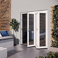 Glazed White Hardwood External Patio Door set, (H)2104mm (W)1804mm