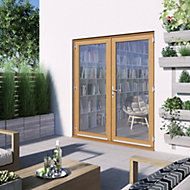 1 Lite Glazed Hardwood External French Door set, (H)2094mm (W)1794mm