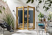 1 Lite Glazed Hardwood External French Door set, (H)2094mm (W)1794mm