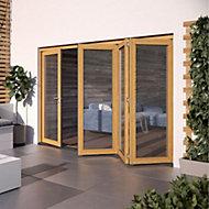 Glazed Golden Oak External Patio Door set, (H)2104mm (W)3004mm