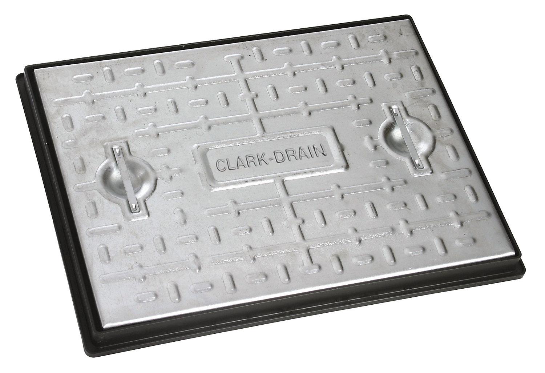 Clark Rectangular Framed 5t Manhole cover, (L)600mm (W)450mm (T)23mm