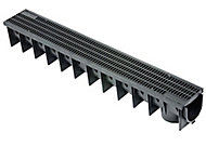 Clark Polypropylene Channel drainage & grate, (L)1m (W)142mm