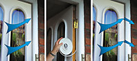 U-Can Rubber Self adhesive Seal for doors & windows, (L)5000mm