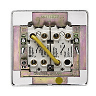 Crabtree 20A Stainless steel effect Rocker Control switch