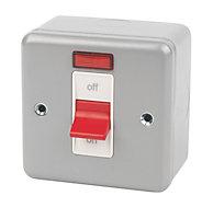 MK 32A Grey Single Switch
