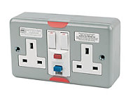 MK Grey 13A RCD socket