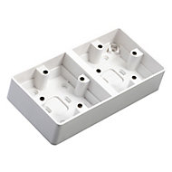 MK 38mm Double Pattress box