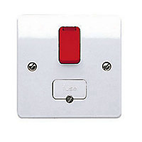 MK 13A White Gloss Switched Fused connection unit