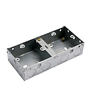 MK Steel 40mm Double Pattress box