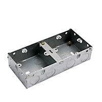 MK Steel 40mm Double Pattress box