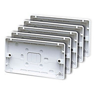 MK Plastic 30mm Moulded box, Pack of 5