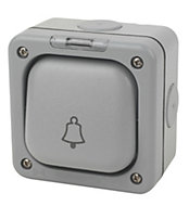 MK 10A 1 way Grey Bell Switch