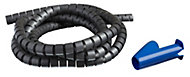 MK Silver Flexible Cable concealer (Dia)20mm (L)2.5m