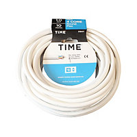 Time 3184Y White 4 core Multi-core cable 1mm² x 10m