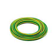 Time Green & yellow 1 core Multi-core cable 4mm² x 10m