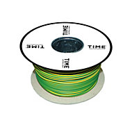 Time Green & yellow 1 core Multi-core cable 10mm² x 25m
