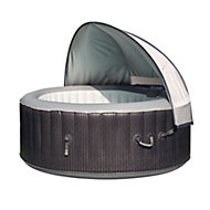 CleverSpa Grey Polyester 4 person canopy
