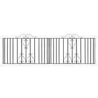 Metpost Ludlow Metal Scroll top Gate, (H)0.95m (W)9.75m