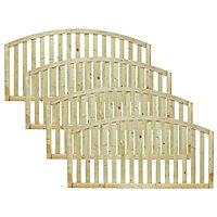Grange Gawsworth Slatted Fence panel (W)1.8m (H)0.9m, Pack of 4
