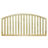 Grange Gawsworth Domed top Vertical slat Border fencing (W)1.8 m (H)0.9m, Pack of 5