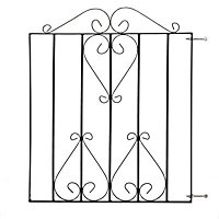 Metpost Ludlow Metal Scroll top Gate, (H)0.9m (W)0.86m