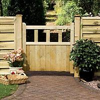Grange Gates Timber Solid Infill Gate, (H)0.9m (W)0.9m
