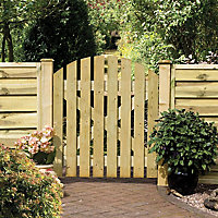 Grange Timber Domed Gate, (H)1.05m (W)0.9m