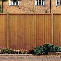 Grange Closeboard Vertical slat Fence panel (W)1.83m (H)1.8m, Pack of 4