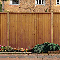 Grange Closeboard Vertical slat Fence panel (W)1.83m (H)1.8m, Pack of 20