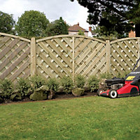 Grange St Lunair Diagonal slat Fence panel (W)1.8 m (H)1.8m, Pack of 3