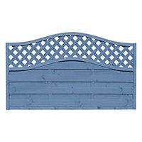 Grange Woodberry Horizontal slat Fence panel (W)1.8m (H)1.05m, Pack of 4