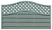 Grange Woodberry Horizontal slat Fence panel 1.8m 1.05m, Pack of 3