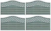 Grange Woodberry Horizontal slat Fence panel 1.8m 1.05m, Pack of 4