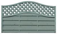 Grange Woodberry Horizontal slat Fence panel (W)1.8m (H)1.05m, Pack of 10