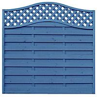 Grange Woodberry Horizontal slat Fence panel (W)1.8 m (H)1.8m, Pack of 3