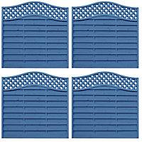 Grange Woodberry Horizontal slat Fence panel 1.8m 1.8m, Pack of 4