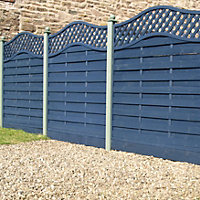 Grange Woodberry Horizontal slat Fence panel (W)1.8 m (H)1.8m, Pack of 5