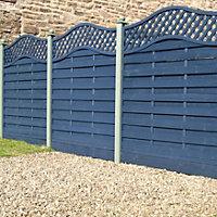 Grange Woodberry Horizontal slat Fence panel (W)1.8m (H)1.8m, Pack of 10