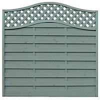 Grange Woodberry Horizontal slat Fence panel (W)1.8m (H)1.8m, Pack of 3
