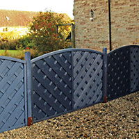 Grange St Lunair Diagonal slat Fence panel (W)1.8 m (H)1.2m, Pack of 10
