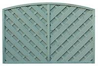 Grange St Lunair Diagonal slat Fence panel (W)1.8m (H)1.2m, Pack of 3