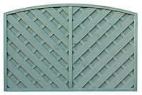 Grange St Lunair Diagonal slat Fence panel (W)1.8m (H)1.2m, Pack of 4