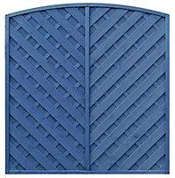 Grange St Lunair Diagonal slat Fence panel (W)1.8 m (H)1.8m, Pack of 3