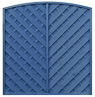 Grange St Lunair Diagonal slat Fence panel (W)1.8m (H)1.8m, Pack of 4